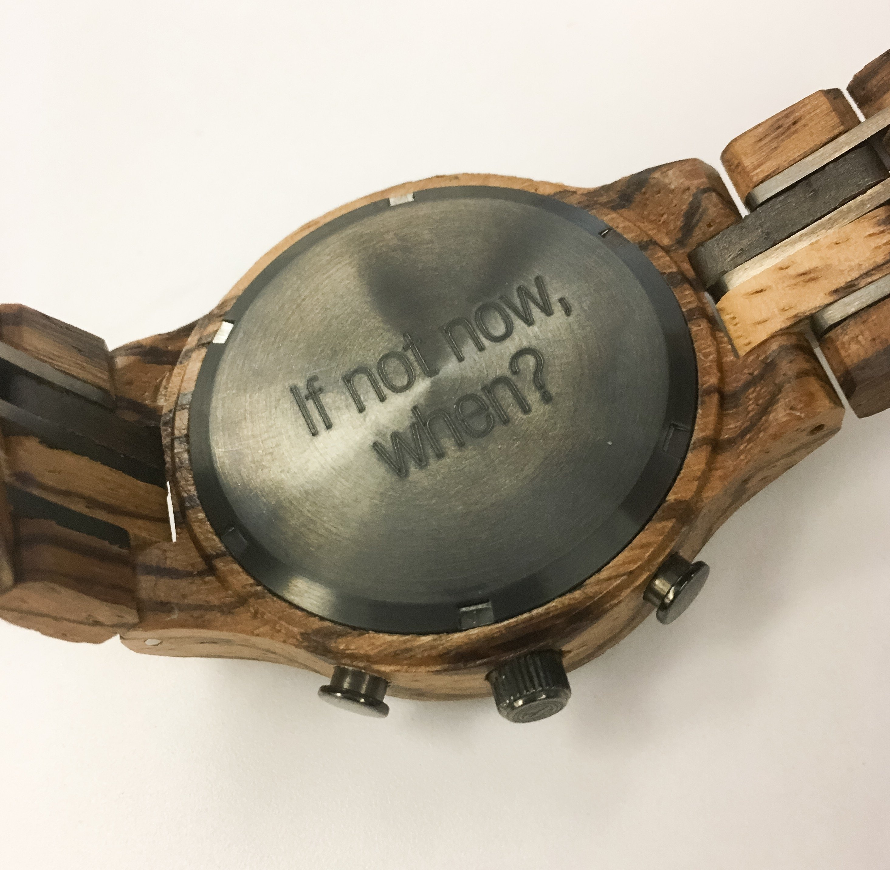 engraved watch