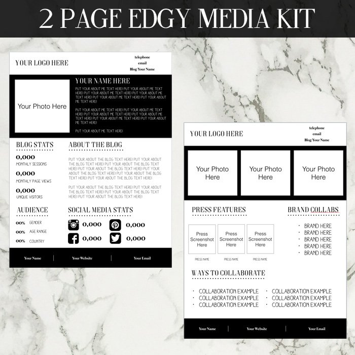 Edgy media kit template pronofoot35fo Images